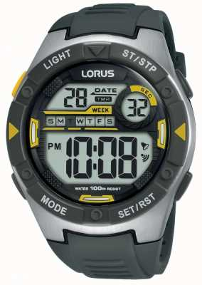 Lorus | mens sport digitali | cinturino in caucciù nero | R2397MX9