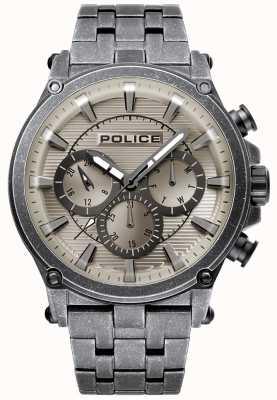 Police | mens taman | bracciale in acciaio inossidabile | quadrante grigio canna di fucile 15920JSQU/20M