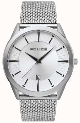 Police | uomo patriota | bracciale in maglia di acciaio inossidabile | quadrante argentato 15305JS/04MM
