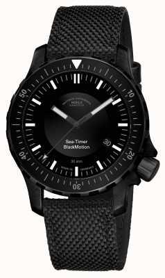 Muhle Glashutte | movimento nero della sea-timer | braccialetto sintetico nero | M1-41-83-NB