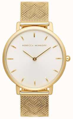 Rebecca Minkoff Le donne importanti | bracciale in maglia placcata oro | quadrante argentato 2200298