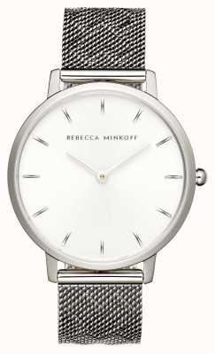 Rebecca Minkoff Le donne importanti | bracciale in maglia di acciaio inossidabile | quadrante argento | 2200297
