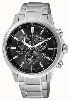 Citizen | uomo eco-drive titanio wr100 | quadrante nero / grigio | AT2341-88E
