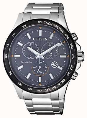 Citizen | cronografo da uomo eco-drive | bracciale in acciaio inossidabile AT2424-82H