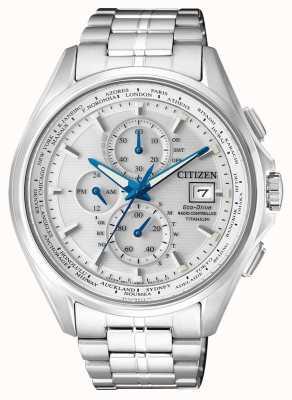 Citizen | cronografo mondiale da uomo eco-drive a | bracciale in titanio | AT8130-56A