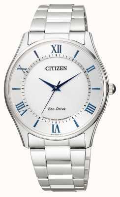 Citizen | eco-drive per uomo | bracciale in acciaio inossidabile quadrante argentato | BJ6480-51B