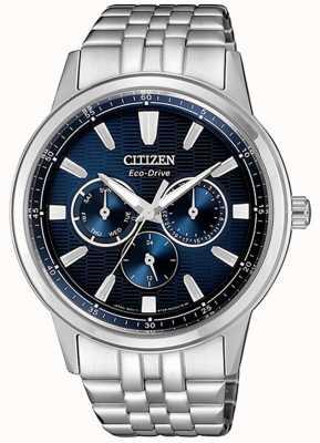 Citizen | eco-drive per uomo | bracciale in acciaio inossidabile quadrante blu | BU2071-87L