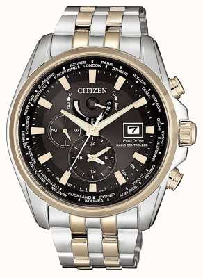 Citizen | mens eco-drive world time presso | bracciale in acciaio inossidabile AT9038-53E