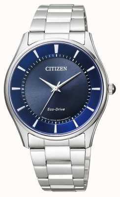 Citizen | eco-drive per uomo | bracciale in acciaio inossidabile quadrante blu | BJ6480-51L