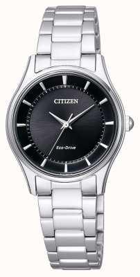 Citizen | womens eco-drive | bracciale in acciaio inossidabile | quadrante nero | EM0401-59E