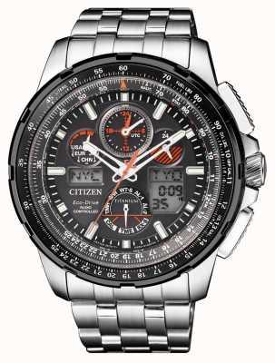 Citizen | mens eco-drive skyhawk a | bracciale in titanio | quadrante nero JY8069-88E