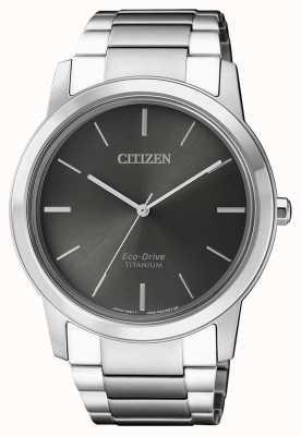 Citizen   uomo eco-drive titanio wr50   quadrante grigio   AW2020-82H