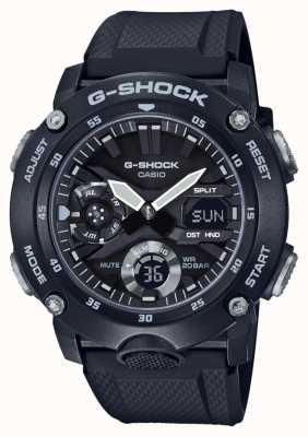 Casio | guardia del nucleo di carbonio g-shock | cinturino in caucciù nero | GA-2000S-1AER