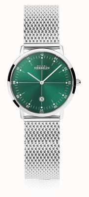 Michel Herbelin | città delle donne | braccialetto in maglia d'argento | quadrante verde | 16915/16B