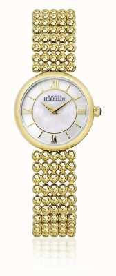 Michel Herbelin | womens perle | bracciale color oro | quadrante in madreperla | 17483/BP19