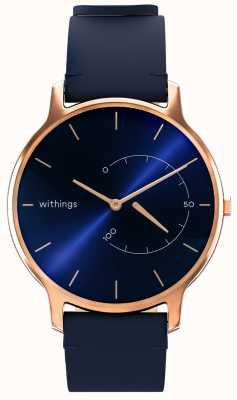 Withings Muovi chic senza tempo: pelle blu, oro rosa HWA06M-TIMELESS CHIC-MODEL 3-RET-INT