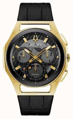 Bulova | curv | uomo | cronografo | cinturino in pelle nera | 97A143