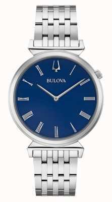 Bulova | uomo | bracciale in acciaio inossidabile | quadrante blu | 96A233