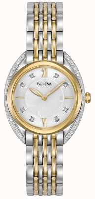 Bulova Diamante classico femminile | cinturino in acciaio inossidabile bicolore 98R229