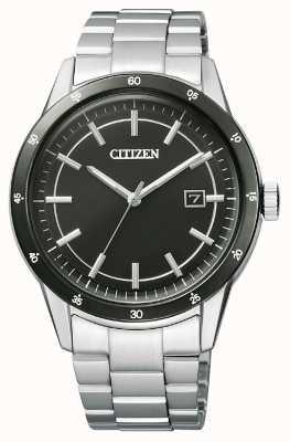 Citizen | eco-drive per uomo | bracciale in acciaio inossidabile quadrante nero | AW1164-53E