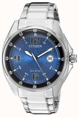 Citizen | uomo eco-drive | quadrante blu | bracciale in acciaio inossidabile | AW1510-54L