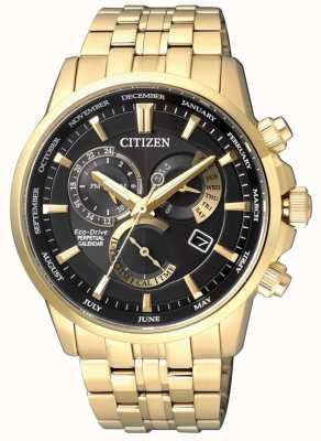 Citizen | uomo calibro ecologico 8700 | quadrante nero | tono dorato | BL8142-84E