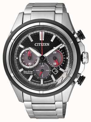 Citizen | eco-drive per uomo | bracciale in titanio | quadrante nero | CA4241-55E