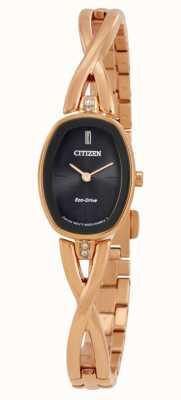 Citizen | womens silhouette eco-drive | braccialetto tono oro | EX1413-55E