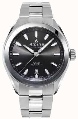 Alpina | mens alpiner | bracciale in acciaio inossidabile | quadrante grigio | AL-240GS4E6B
