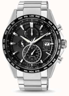 Citizen | mens eco-drive radio wave h800 | bracciale in titanio | AT8154-82E