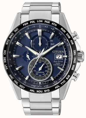 Citizen | mens eco-drive radio wave h800 | bracciale in titanio | AT8154-82L