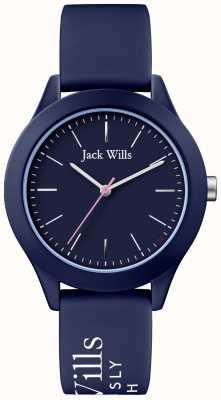 Jack Wills | unione delle donne | quadrante blu marino | cinturino in silicone blu marino | JW009NVBL