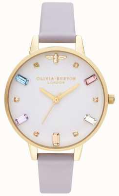 Olivia Burton | donne | ape arcobaleno | demi parma cinturino viola | OB16RB11