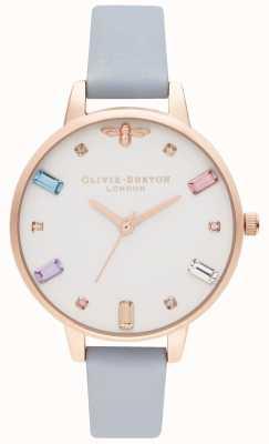 Olivia Burton | donne | ape arcobaleno | cinturino demi chalk blu | OB16RB12
