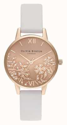 Olivia Burton | donne | pizzo ingioiellato | cinturino in pelle blush | OB16MV102