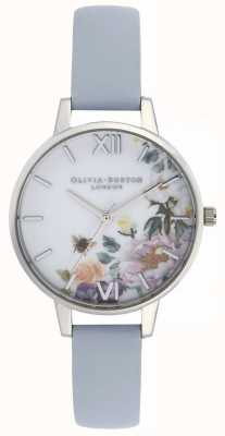 Olivia Burton | donne | giardino incantato | cinturino in pelle blu gesso | OB16EG114