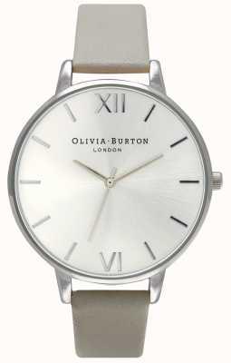 Olivia Burton | donne | quadrante argento | cinturino in pelle grigia | OB15BD57