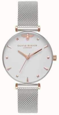 Olivia Burton | delle donne | ape regina | bracciale a maglie in acciaio inossidabile OB16AM140