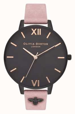 Olivia Burton | donne | Ape 3d | cinturino in camoscio rosa decorato | OB16ES09