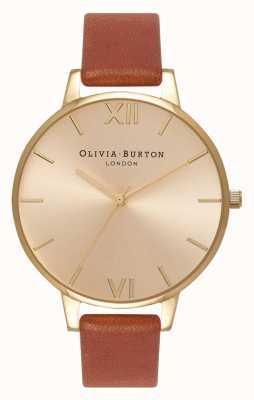 Olivia Burton | donne | quadrante sunray | pelle marrone | OB13BD09