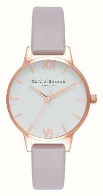 Olivia Burton | donne | cinturino grigio lilla | quadrante bianco | OB16MDW32