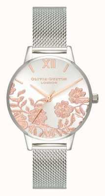 Olivia Burton | delle donne | dettaglio in pizzo | bracciale a maglie in acciaio inossidabile OB16MV90