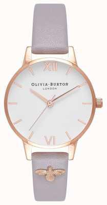 Olivia Burton | donne | Ape 3d | cinturino lilla grigio in pelle decorata | OB16ES11
