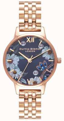Olivia Burton | donne | fiori ingioiellati | bracciale in oro rosa | OB16BF17