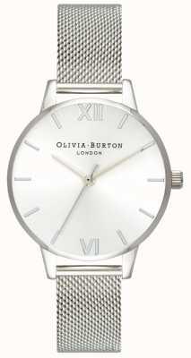 Olivia Burton | donne | quadrante midi sunray | bracciale a maglie d'acciaio | OB16MD86