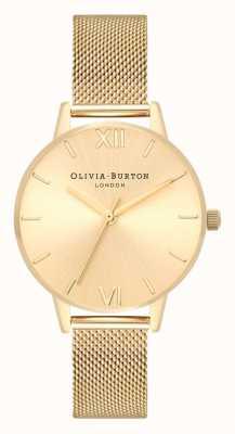 Olivia Burton | donne | quadrante midi sunray | bracciale a maglie d'oro | OB16MD85