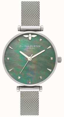 Olivia Burton | donne | ape regina | perla | bracciale a maglie d'acciaio | OB16AM151