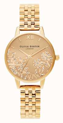 Olivia Burton | donne | pizzo ingioiellato | braccialetto tono oro | OB16MV105