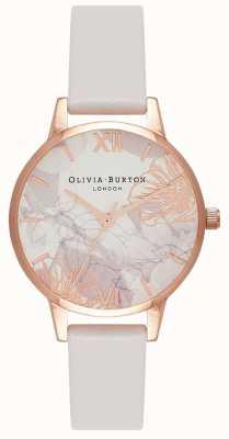 Olivia Burton | donne | fiori astratti | cinturino in pelle rossa | OB16VM12