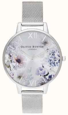 Olivia Burton | donne | fiori di luce solare | bracciale a maglie d'acciaio | OB16EG117
